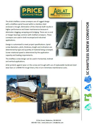 Shaftless screw conveyor brochure download